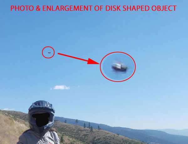 PHOTO & ENLARGEMENT OF DISK SHAPED OBJECT.
